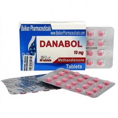 Danabol Данабол Метандиенон Метан 10 мг, 100 таблеток, Balkan Pharmaceuticals в Таразе