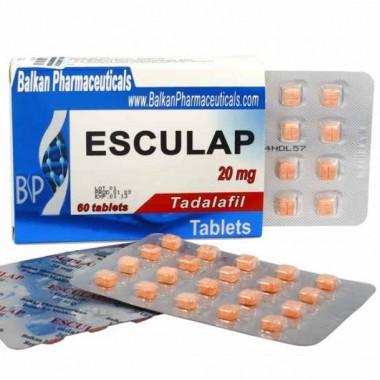 Esculap Тадалафил Эскулап 20 мг, 20 таблеток, Balkan Pharmaceuticals в Таразе